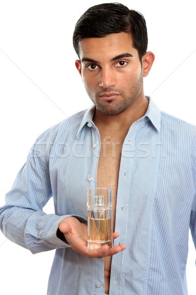 Man parfum geur fles een Stockfoto © lovleah