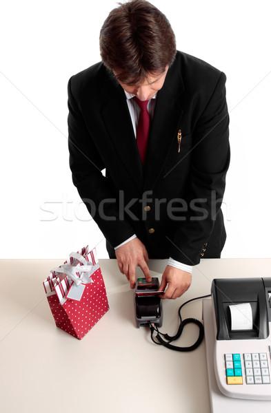 Kiskereskedelem fizetés tranzakció fogyasztó tő szám Stock fotó © lovleah
