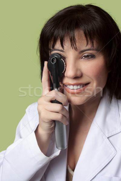 зрение оптик женщину врач глазах Сток-фото © lovleah