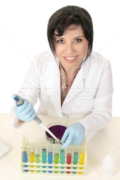 Microbiologie wetenschap chemie onderzoek vrouwelijke wetenschapper Stockfoto © lovleah