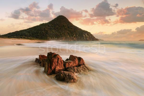 Port Stephens Zenith Beach sunrise tourism Stock photo © lovleah