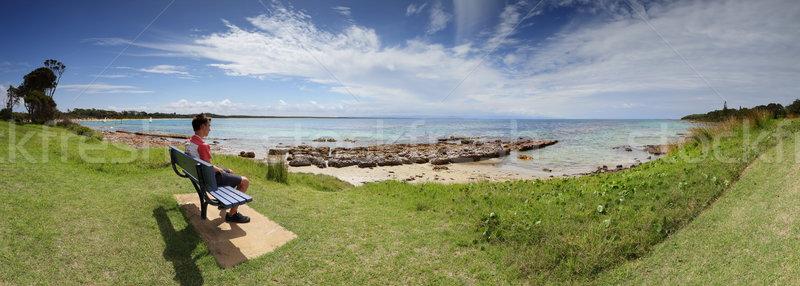 Touristiques visiteur plage Australie herbeux Photo stock © lovleah