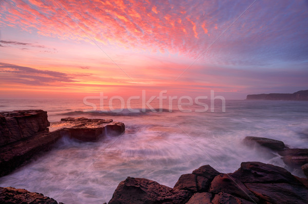 North Avoca sunrise seascape Stock photo © lovleah