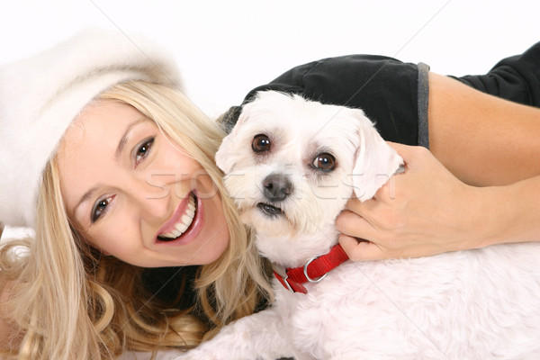 Female with dog Stock photo © lovleah