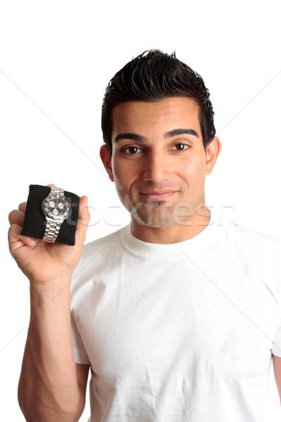 Man advertising chronograph watch Stock photo © lovleah