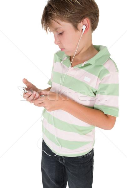 çocuk mp3 müzik Çalar gündelik erkek ses Stok fotoğraf © lovleah