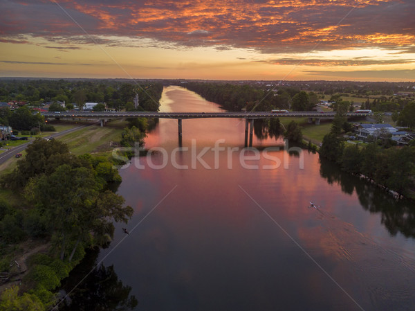 Sunrise over the Nepean River Stock photo © lovleah