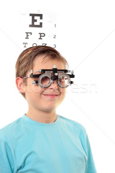 Child vision checkup Stock photo © lovleah