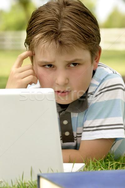 Student child perplexed wondering Stock photo © lovleah