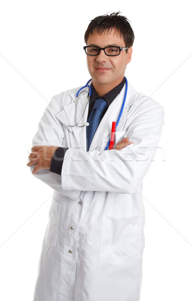 Doctor  standing casually Stock photo © lovleah