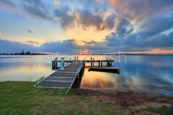 Sunset at Belmont, Lake Macquarie Stock photo © lovleah
