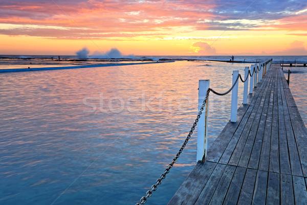 North Narrabeen Ocean Rock Pools at sunrise Stock photo © lovleah
