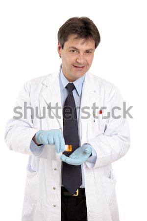 Doctor with prescription medicine Stock photo © lovleah
