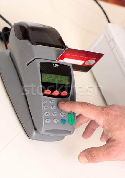 Menor crédito tarjeta de débito transacción vendedor cliente Foto stock © lovleah