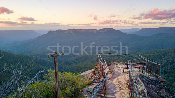 Lookout scenic views Blue Mountains Australia Stock photo © lovleah