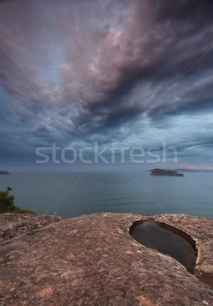 Gemstone skies fromr Pearl Beach Broken Bay Australia Stock photo © lovleah