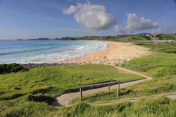 Zig Zag path to Bombo Beach Australia Stock photo © lovleah