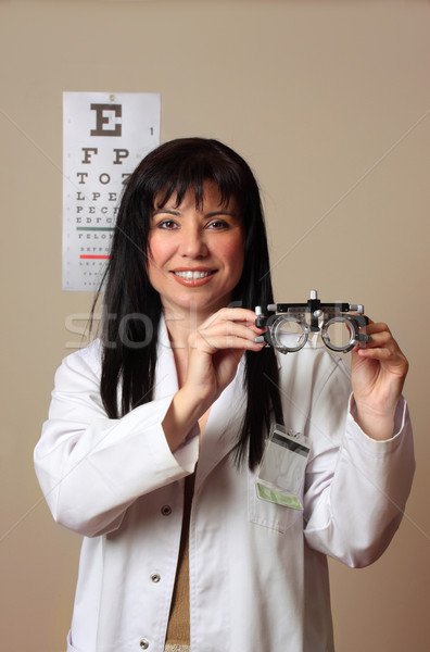 Optometrist vision eye checkup Stock photo © lovleah