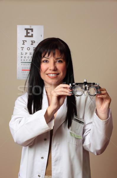 Optometrist visie oog oogarts frames Stockfoto © lovleah
