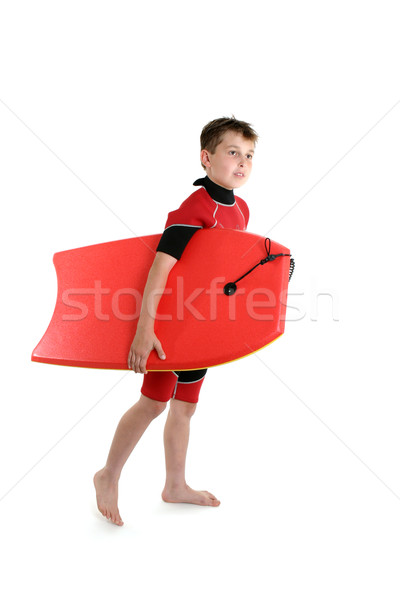 Surfer boy holding a bodyboard Stock photo © lovleah