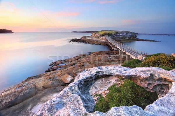 Desnudo isla Australia vista Sydney Foto stock © lovleah
