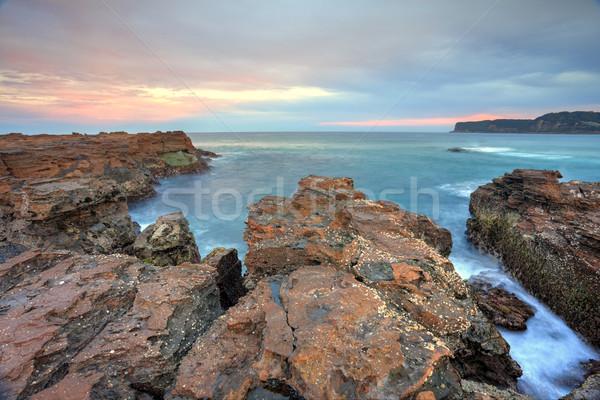 Craggy rocks of North Avoca escarpment Stock photo © lovleah