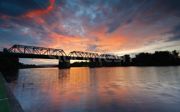Sunset Victoria Bridge Penrith Australia Stock photo © lovleah