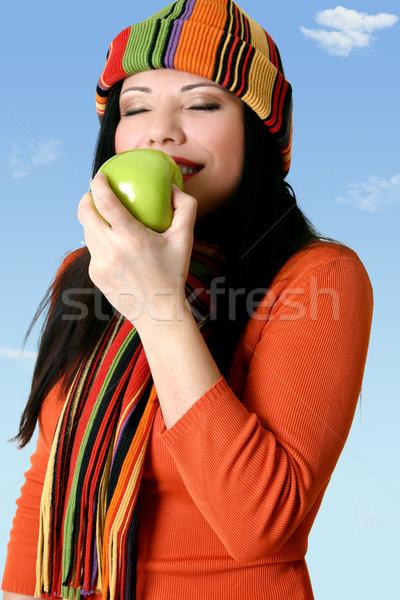 Mela donna verde frutta inverno Foto d'archivio © lovleah
