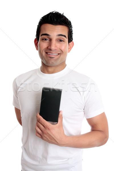 Foto stock: Sorridente · homem · varejo · produto · consumidor