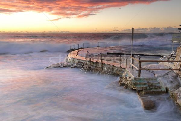 Stock photo: Large swell att Bronte Beach