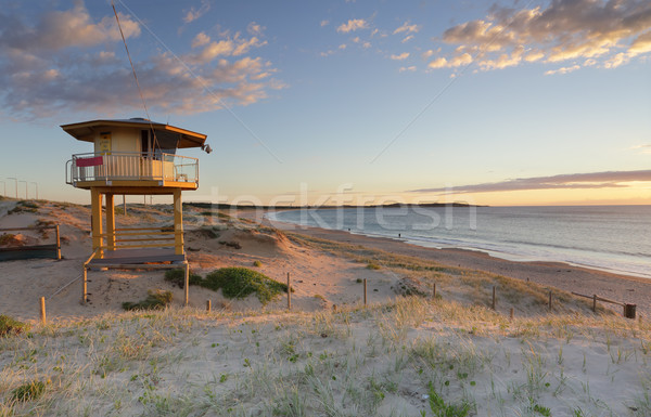 Wanda Lifeguard Tower in summer Stock photo © lovleah