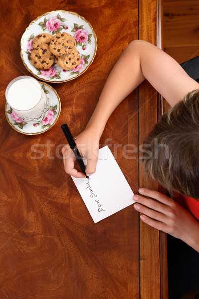 Stock photo: Child writing a letter