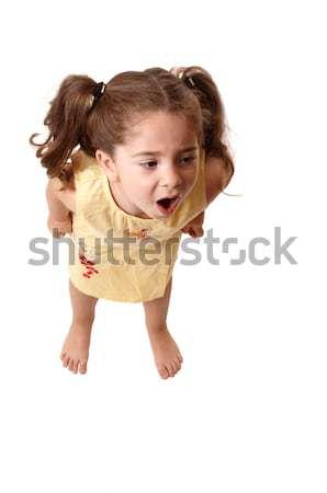 Kislány kiált dühroham fiatal gyermek női Stock fotó © lovleah
