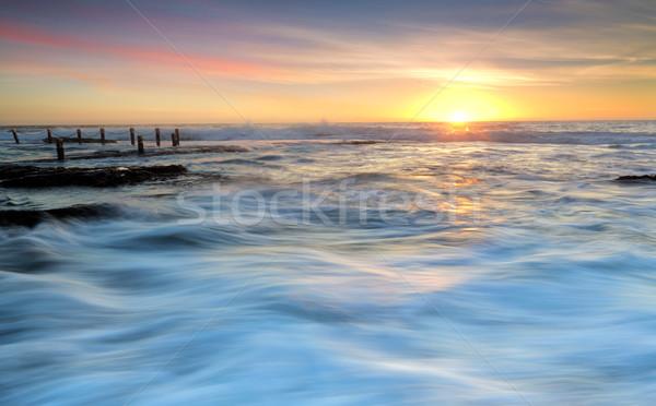 Nascer do sol piscina céu natureza paisagem verão Foto stock © lovleah