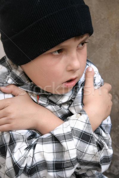 Сток-фото: бездомным · холодно · только · мальчика · одиноко · детей