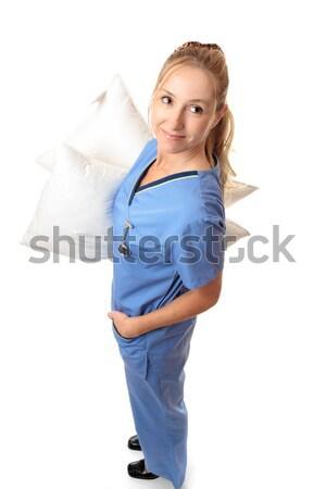 Szoptatás támogatás női nővér hordoz párnák Stock fotó © lovleah
