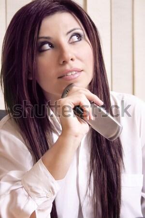 Businesswoman thinking pondering Stock photo © lovleah