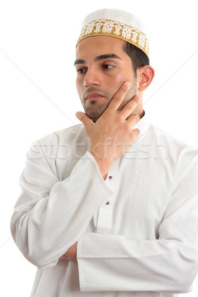 Ethnic man thinking Stock photo © lovleah