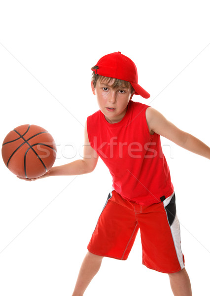 Boy playing game  basketball Stock photo © lovleah