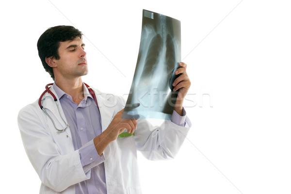 Doktor göğüs xray tıbbi sağlık hemşire Stok fotoğraf © lovleah