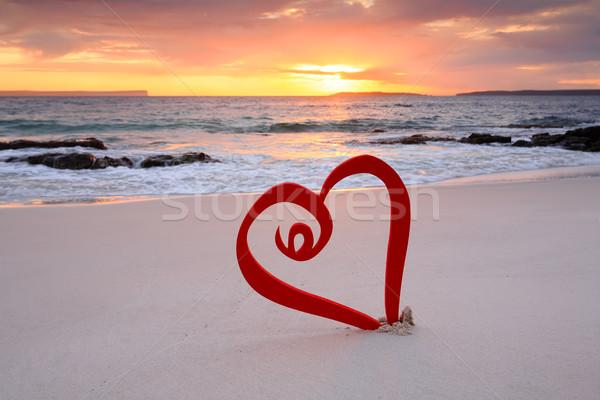 Love travel, love vacation, love Jervis Bay Stock photo © lovleah