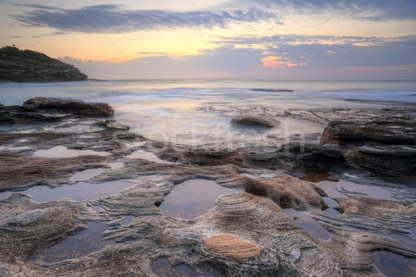 Sydney Australia Świt chmury charakter krajobraz Zdjęcia stock © lovleah