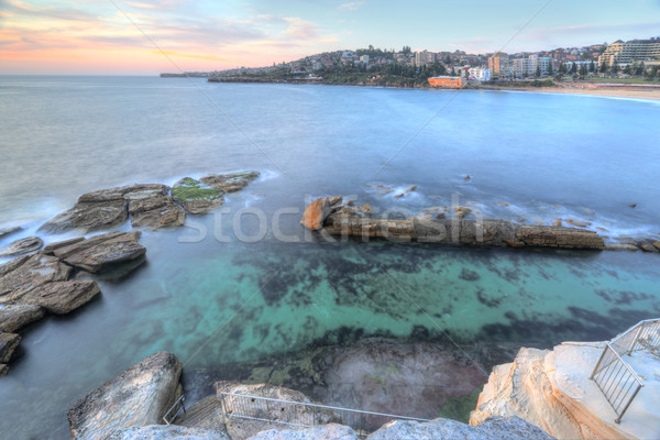 High views over Coogee Rock Pool Stock photo © lovleah