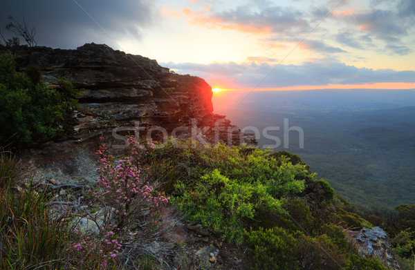 Sunset Views Katoomba Blue Mountains Stock photo © lovleah