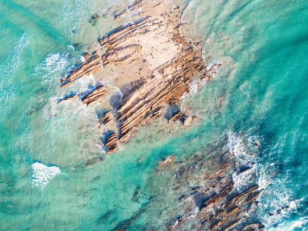 пород вверх океана волна пляж воды Сток-фото © lovleah