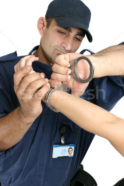 Detenido criminal nota foto placa Foto stock © lovleah