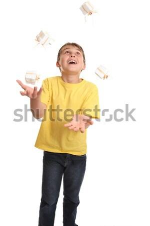 Juggling Presents Stock photo © lovleah