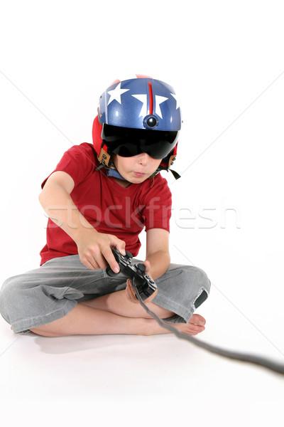 ребенка играет компьютерная игра внимательный полет компьютер Сток-фото © lovleah