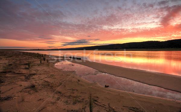Sunset over Castlereagh Penrith Stock photo © lovleah