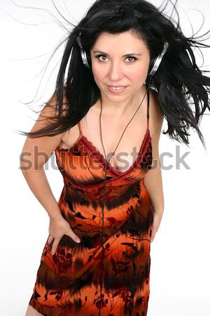 Exotic woman listening music Stock photo © lovleah